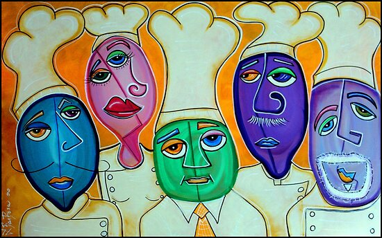 4 Chefs - Culinary Art by Laura Barbosa