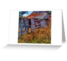 Country gate & shed Greeting Card