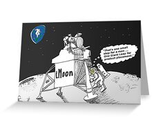 Neil Armstrong and the iMoon publicity vehicle Greeting Card