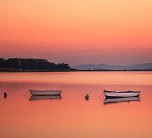 Boats on Sunrise by Özkan Konu