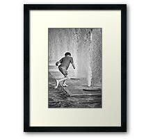 Wet Fun Framed Print