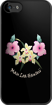 Hawaiian theme iPhone case by patjila