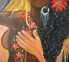 """""""Forever Yours"""" - Detail - Interracial Lovers Series by Yesi Casanova"""