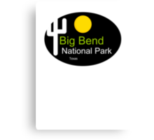 Big Bend National Park Texas t shirt truck stop Canvas Print
