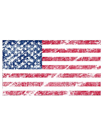 Vintage flag of United States of America by nadil