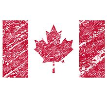 Canada flag is vintage by nadil