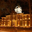 Morgan County Courthouse at Night by Kent Nickell