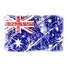 vintage flag of australia by nadil