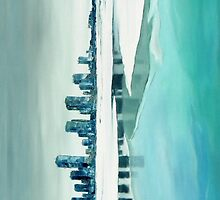 Cold city - abstract winter cityscape by Beata Belanszky Demko