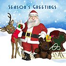 Season's Greetings Christmas Holiday Card by Moonlake
