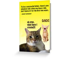 Father's Day Kitties Greeting Card