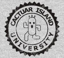 Cactuar Island University (vintage black) by karlangas