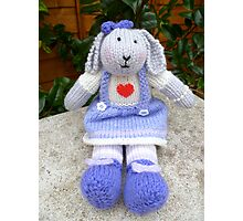 Hand Knitted  Girl  Rabbit Photographic Print
