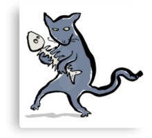 gangsta kitten Canvas Print