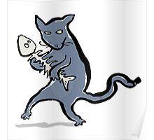 gangsta kitten Poster