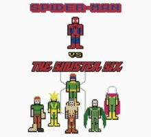 Spider-man vs the Pixelated Six by inesbot