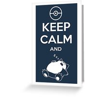 Keep Calm and... zZz Greeting Card