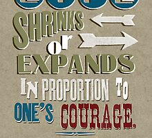 Life Shrinks or Expands by Jen Dixon