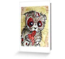 LOL zombie cat Greeting Card