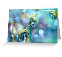 Rainbow Moss Drops Greeting Card