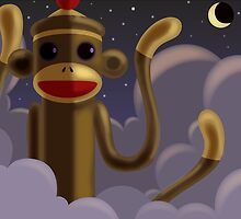 Evil Sock Monkey by Mike Cressy