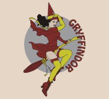 Gryffindor Pin Up Witch by sentstarr