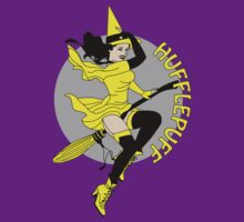 Hufflepuff Pin Up Witch by sentstarr