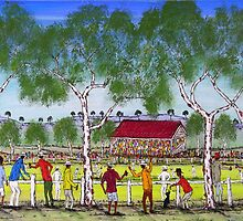 """Day at the Cricket"" Original Acrylic Painting EJCairns  by EJCairns"