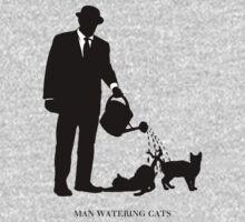 Man Watering Cats by GUS3141592