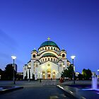 St Sava temple in Belgrade, Serbia square format by Marko  Gligorov