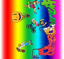 Percentum Xtreme Sports (rainbow) by PercentumDesign