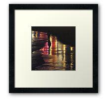 A Walk in the Dark Framed Print