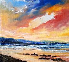 Sunset over Caherdaniel Co. Kerry, Ireland by Roman Burgan
