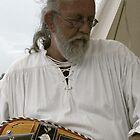 Passionate hurdy gurdy player by patjila
