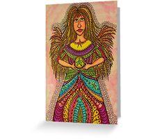 Star  Wish Angel  Greeting Card