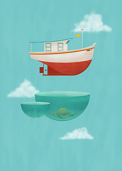 Floating Boat by erdavid