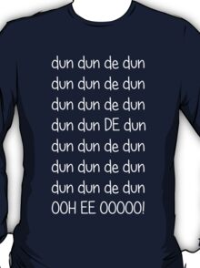 Doctor who Theme (White text) T-Shirt