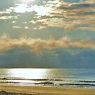 Sun Rising A Huntington Beach by Kathy Baccari