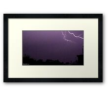 Lightning 2012 Collection 14 Framed Print