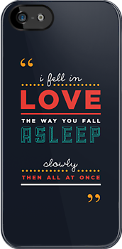 iPHONE CASE - 'The fault in our stars' by John Green by punktkomma