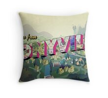 Greetings from Ponyville Throw Pillow