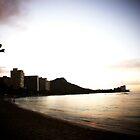Sunrise Over Diamond Head, Waikiki Beach by Adam Kuehl