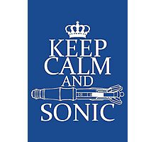 Keep Calm and Sonic Photographic Print