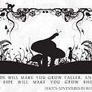 Alice&#x27;s Adventures in Wonderland Black and White Illustrated Quote by Emily Farquharson