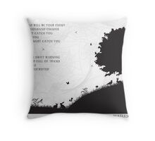 Watership Down Black and White Illustrated Quote Throw Pillow