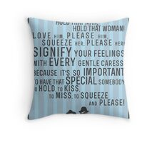 The Blues Brothers Everybody Quote Throw Pillow