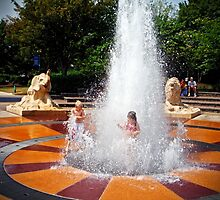Coolidge Park Fountain by debidabble