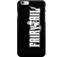 Fairy Tail Logo black and White  iPhone Case/Skin