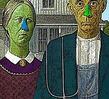 American Gothic Culture Cloth Zinc Collection iPhone Case by CultureCloth