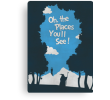 Oh, The Places You'll See Canvas Print